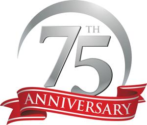 75th Anniversary badge
